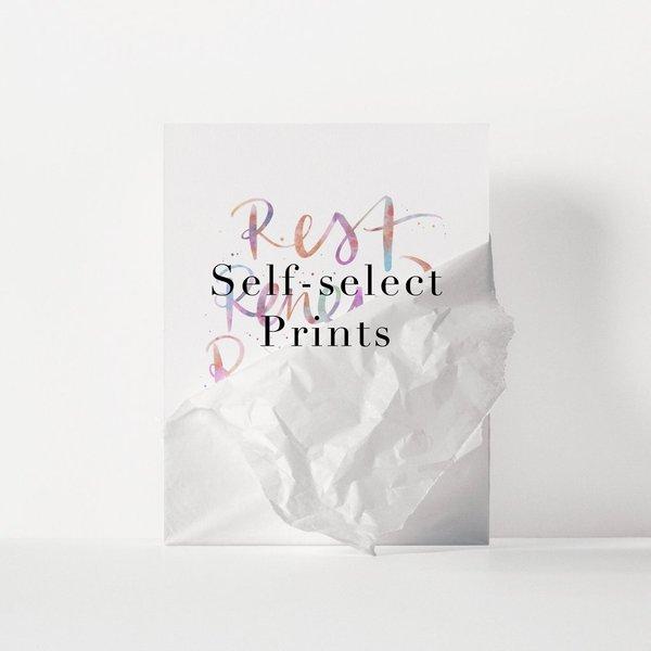 Self-select Prints