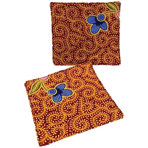 Batik Coasters (set of 2) by Art Adornment, Design 1