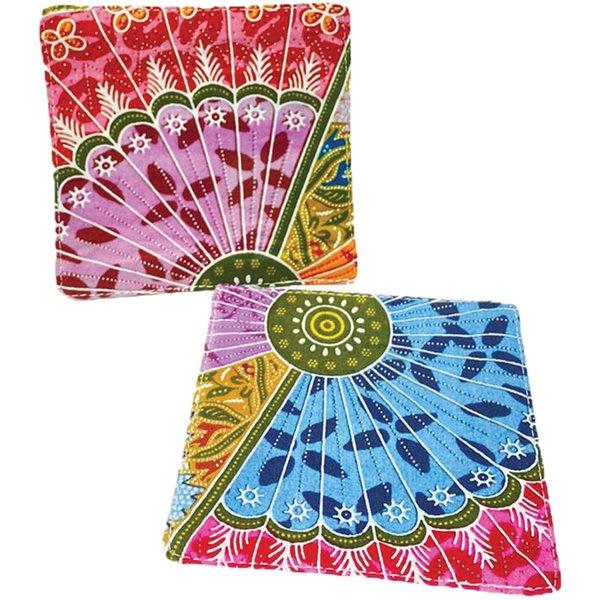 Batik Coasters (set of 2) by Art Adornment, Design 8