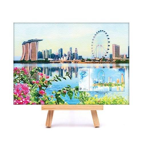 City in a Garden II Collection - Marina Bay Skyline Canvas Print
