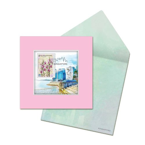 City in a Garden II Collection - Merlion Greeting Card