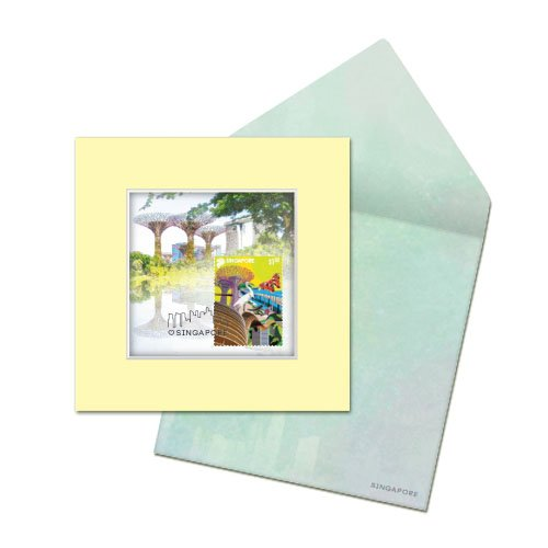 City in a Garden II Collection - Supertree Grove Greeting Card
