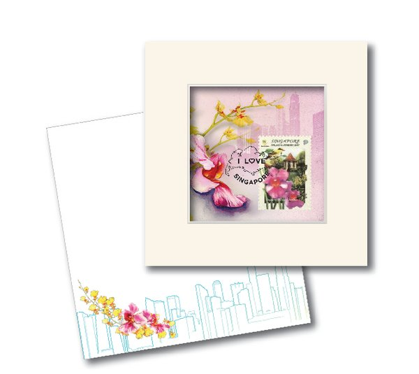 City in A Garden Collection - Vanda Ms Joaquim Greeting Card