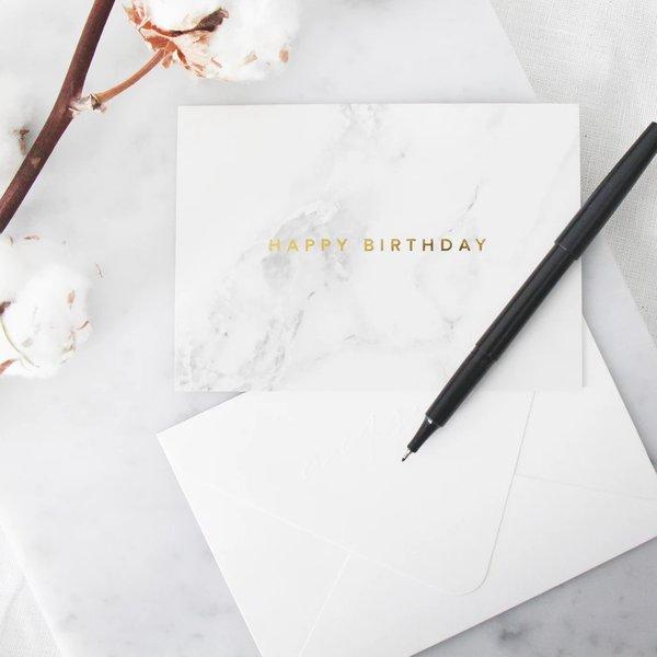 Happy Birthday Marble Card