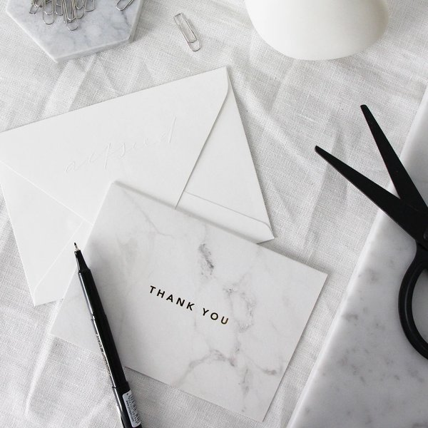Thank You Marble Card