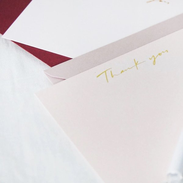 Thank You Card - Violet