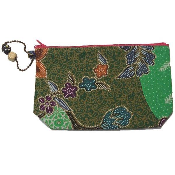 Batik Cosmetic Purse by Art Adornment, Green