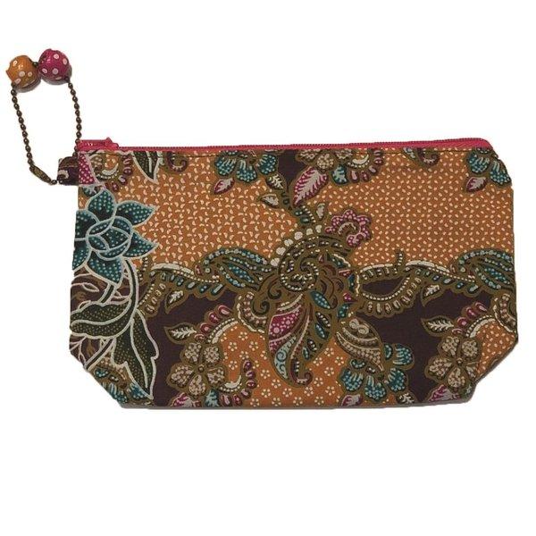 Batik Cosmetic Purse by Art Adornment, Mustard