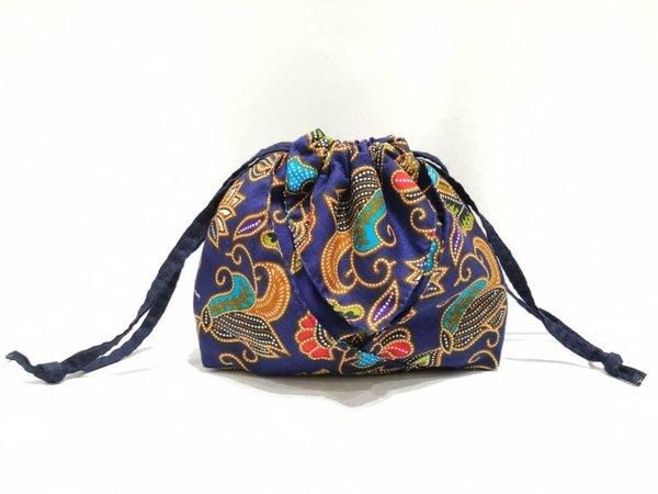 Batik Drawstring Bag