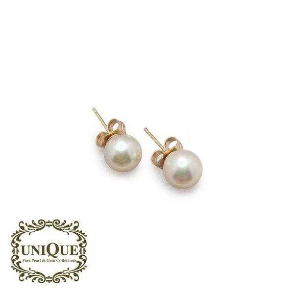 White Japanese Akoya Pearl Earrings
