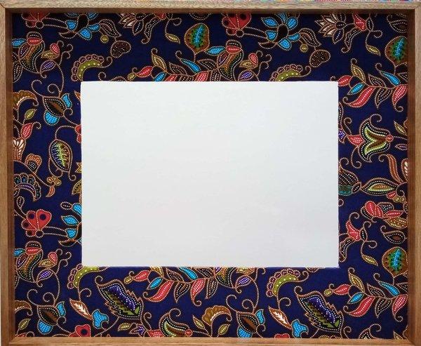 Navy Blue Batik Frame