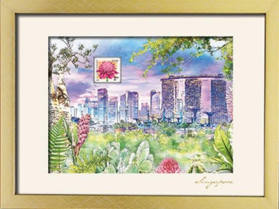 City in A Garden Collection - Singapore City Skyline Art Print