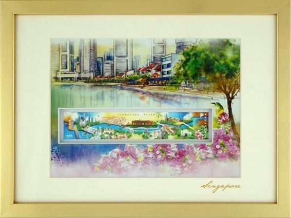 City in A Garden Collection - Singapore River Artprint
