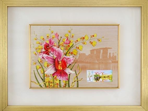 City in a Garden II Collection - Vanda Miss Joaquim Wood Print
