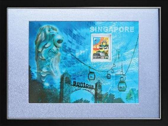 Iconic Landmark Collection - Sentosa and Singapore Cable Car Artprint