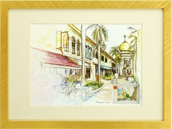 Singapore Traditional Sites - Kampong Glam Artprint (Framed)