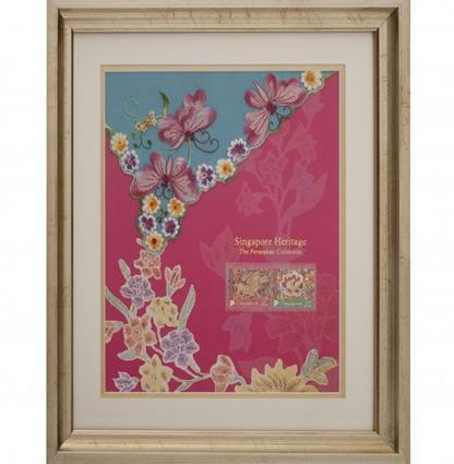The Peranakan Collection - Kebaya Series - Embroidered Butterflies with Carnation