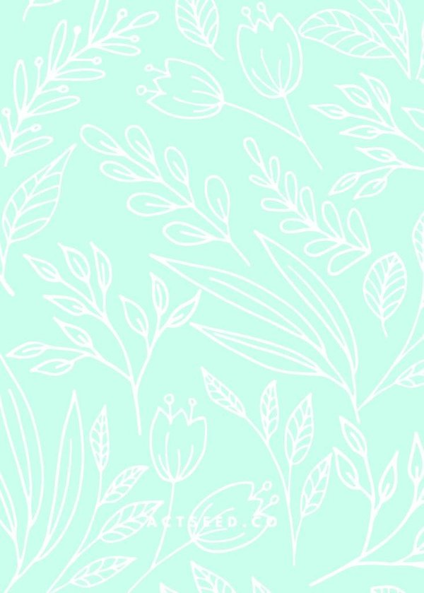 Wrapping Paper 04 (Blue Flowers)