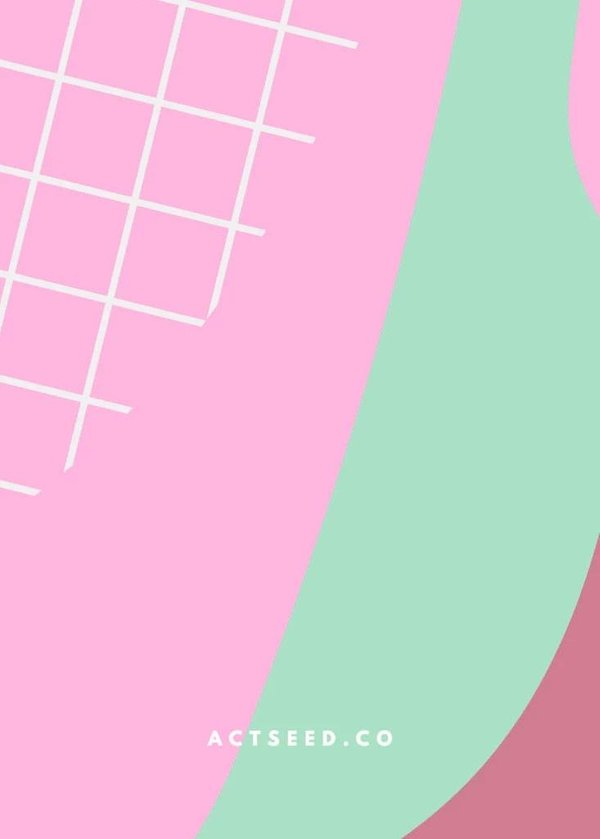 Wrapping Paper 06 (Pink Grid)