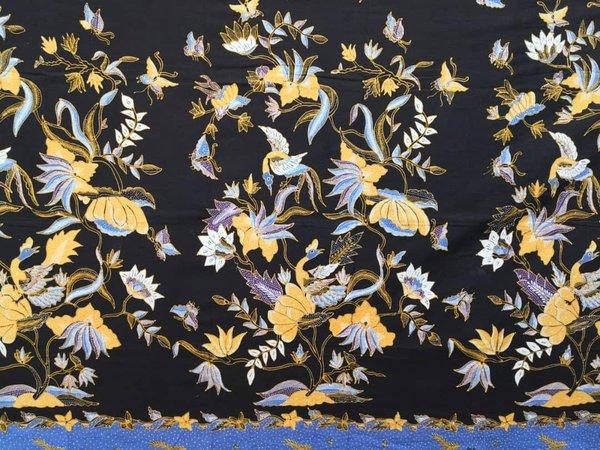 Batik Hand Drawn Fabric 8
