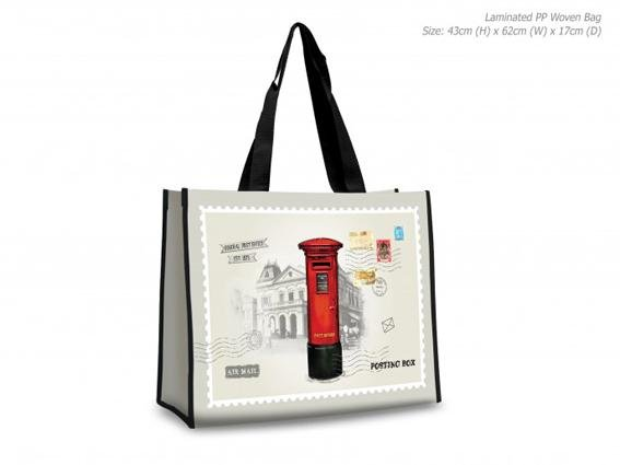 Posting Boxes of Singapore Collection - Laminated Bag