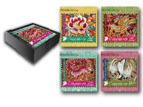 The Peranakan Collection - Peranakan Lacquer Coaster Set of 4
