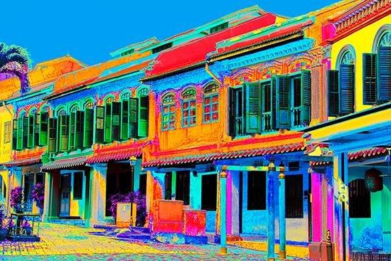 Emerald Hill Shophouses - Blue