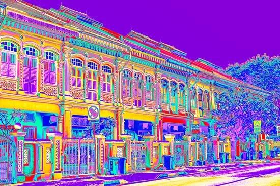 Joo Chiat Shophouses - Purple