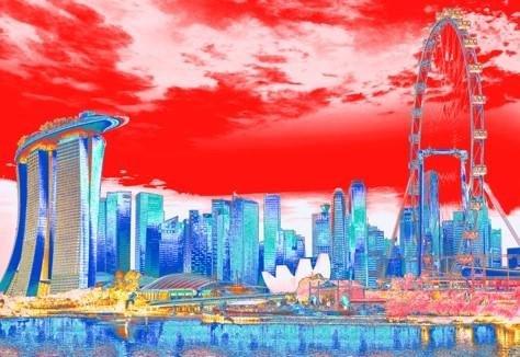 Singapore Skyline - Summer