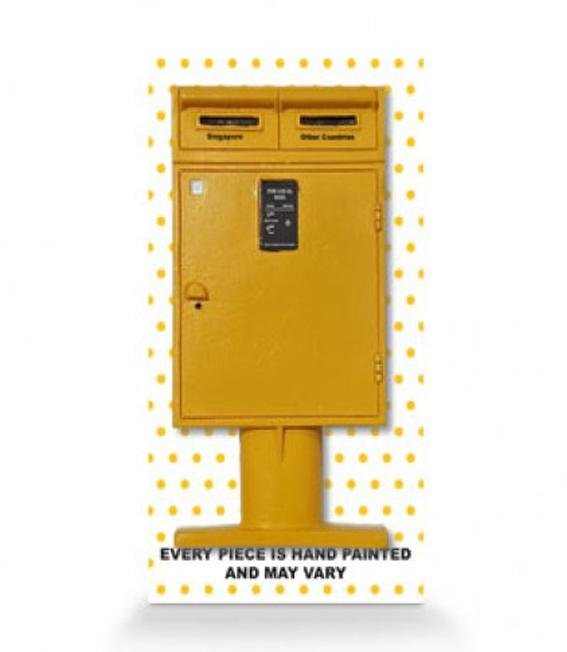 Posting Boxes of Singapore Collection - Yellow Posting Box 3D Magnet