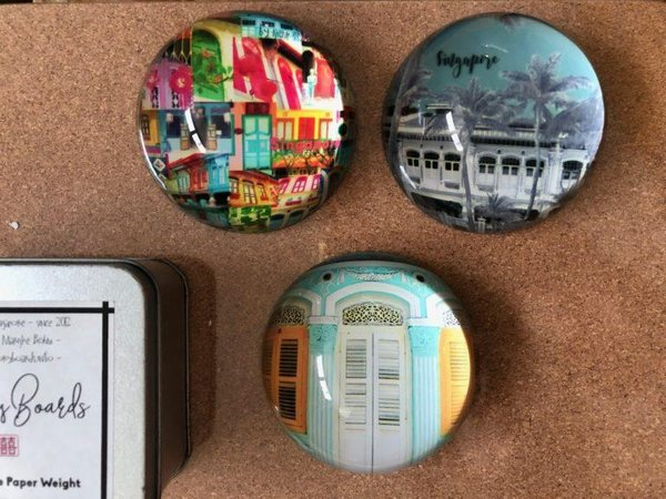 Shophouse Pastel Paperweight