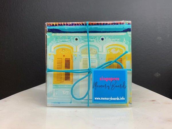 Shophouse 3x3 Pastel Cork Coaster