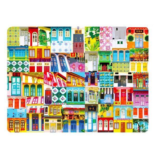 Shophouse 3 Plastic Placemat