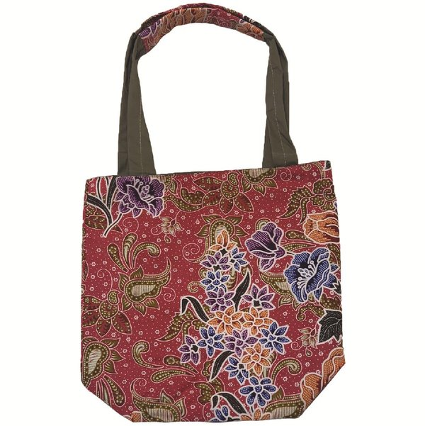 Reversible Tote Bag by Art Adornment, Crimson