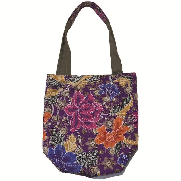 Reversible Tote Bag by Art Adornment, Purple