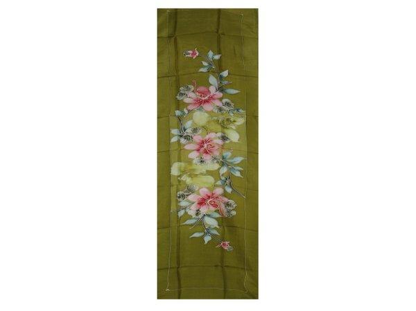 Batik Silk Shawl Green