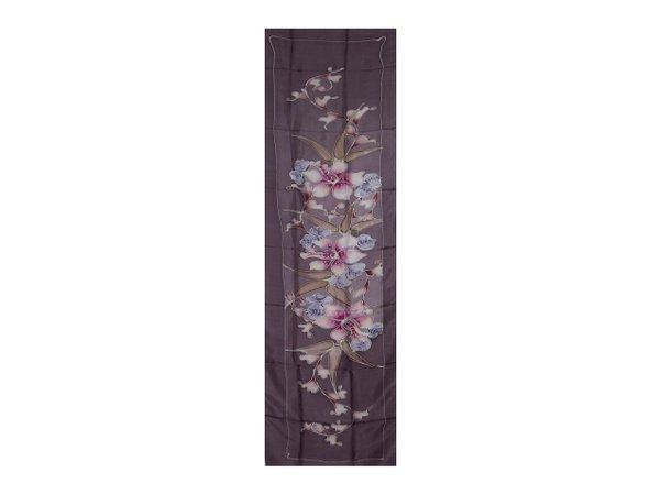 Batik Silk Shawl Violet
