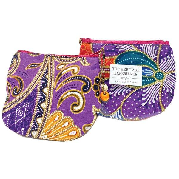 Batik Small Purse by Art Adornment, Purple