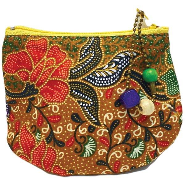 Batik Small Purse by Art Adornment, Khaki
