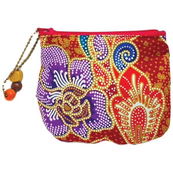 Batik Small Purse by Art Adornment, Red