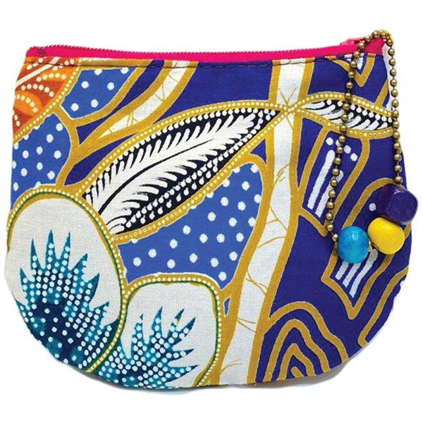 Batik Small Purse by Art Adornment, Blue