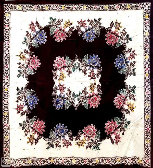 Batik Square Table Cloth Brown