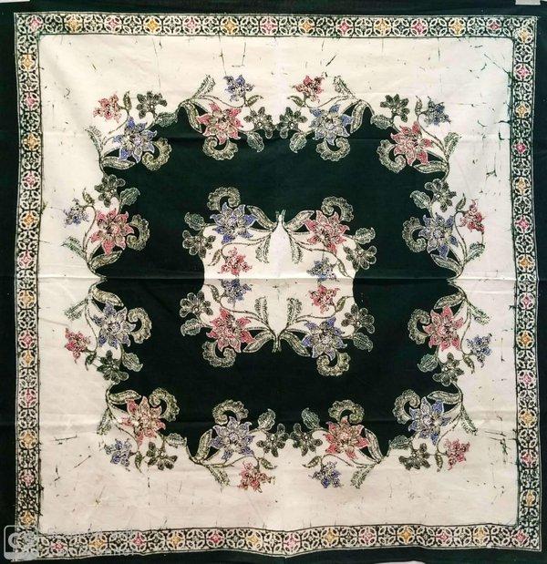 Batik Square Table Cloth Green