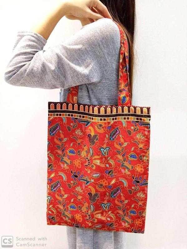 Batik Tote Bag - Red