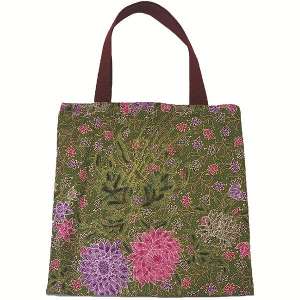 Batik Tote Bag by Art Adornment, Green
