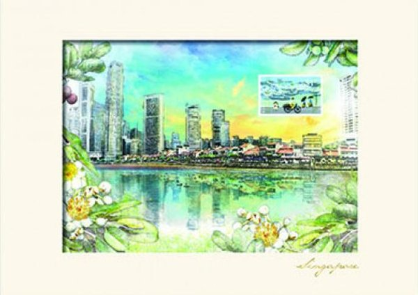 City in a Garden II Collection - Boat Quay Print