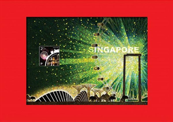 Iconic Landmark Collection - Gardens by the Bay & Flyer Print