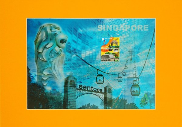 Iconic Landmark Collection - Sentosa And Singapore Cable Car Print