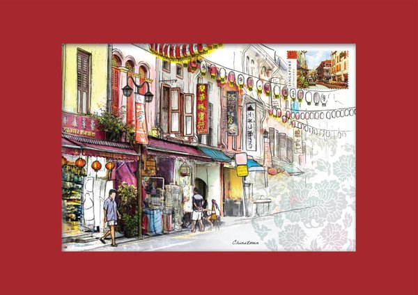 Singapore Traditional Sites - Chinatown Print
