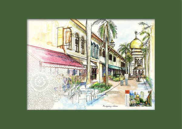 Singapore Traditional Sites - Kampong Glam Print